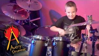 """""""Run to the Hills"""" Avery Molek, 9 year old Drummer"""