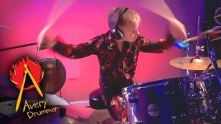 """Enter Sandman"" Avery 6 year old Drummer"